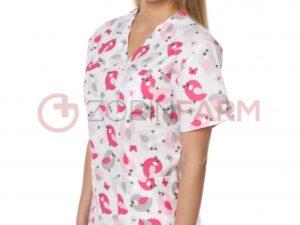 bluza medyczna damska wzor wrobelki