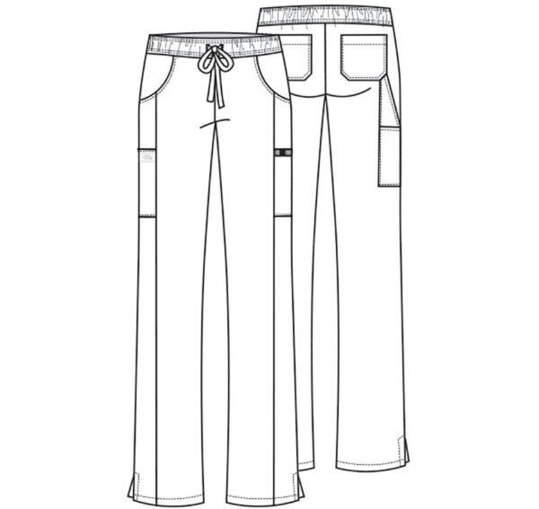 Zorin spodnie damskie Dickies szkic